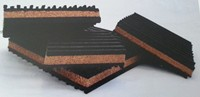 Image of Rubber Cork Rubber Pads RCR-2 Size 2 x 2 x 7/8 inches