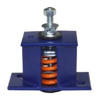 Image of Seismic spring isolators SM1 rated load 150lbs 68 Kg color dark brown