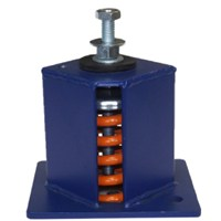 Image of Seismic spring isolators SM2 rated load 2800lbs 1270Kg color maroon